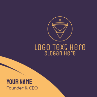 Artisanal Luxurious Cone Pendant Business Card