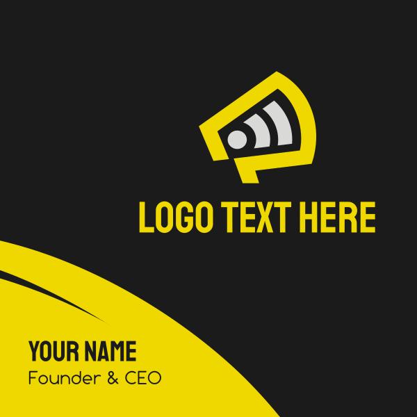 Yellow Megaphone Broadcast Business Card