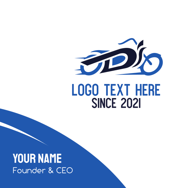 Motorcycle Letter D Business Card