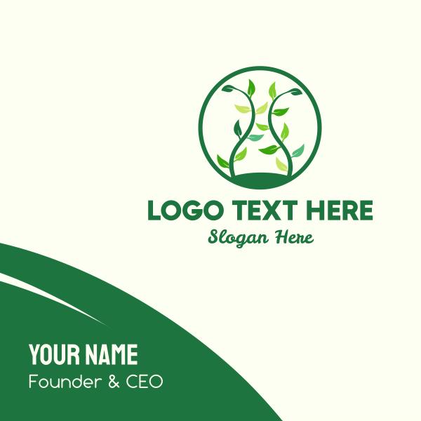 Green Organic Tree Business Card