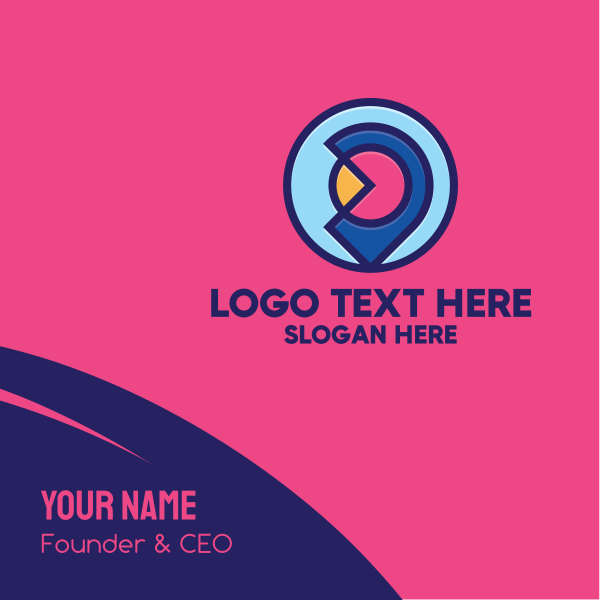 Colorful Location Pin Business Card