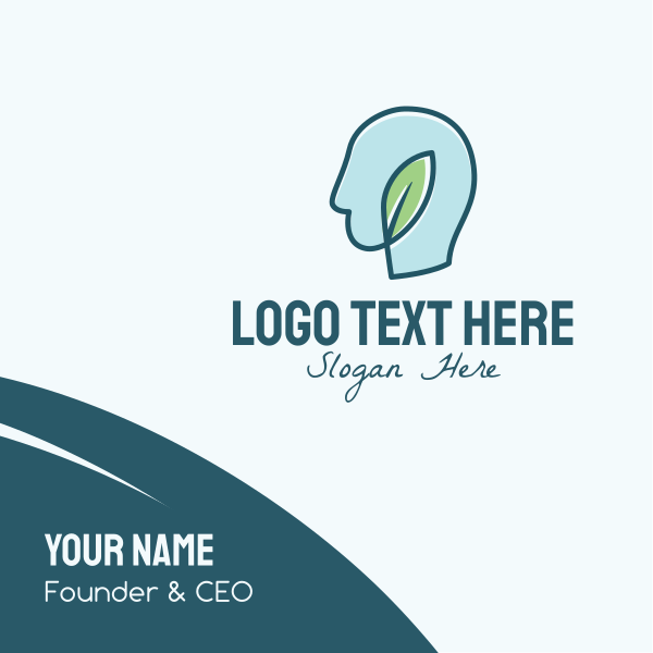 Ecology Human Head Business Card