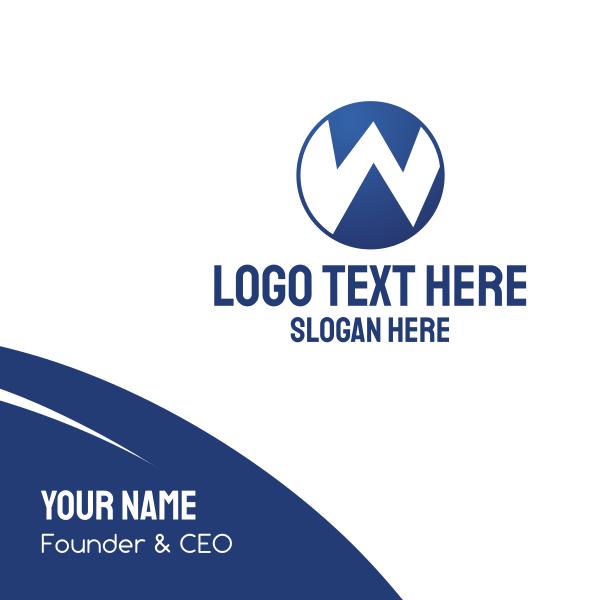 W Circle Business Card