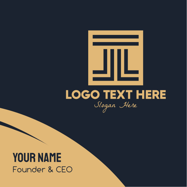 Brown Elegant Architectural Firm Business Card
