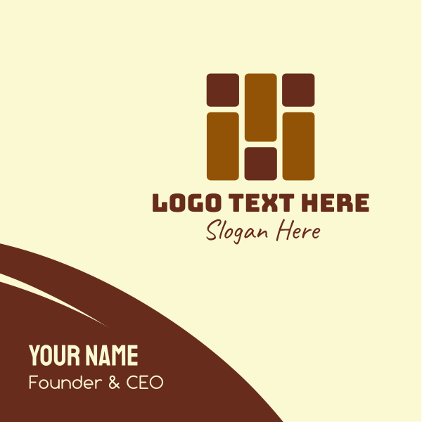 Brown Brick Wall Business Card