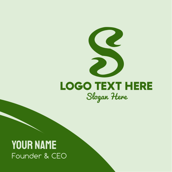 Plant Letter S Business Card