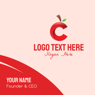 Cherry Letter C Business Card