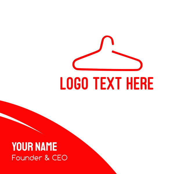Red Hanger Business Card