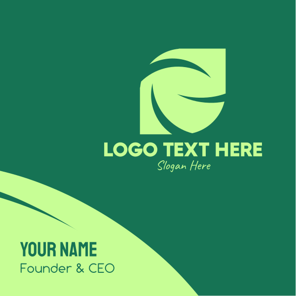 Green Eco Company Business Card