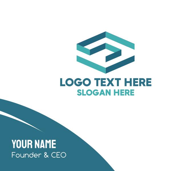 Blue Square Maze Business Card