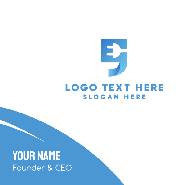 Blue Quote Business Card