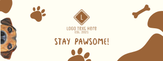Stay Pawsome Facebook cover