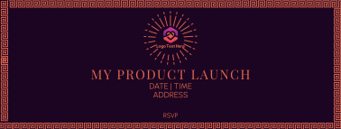 Art Deco Product Launch Facebook cover