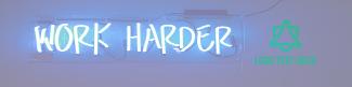 Work Harder LinkedIn banner