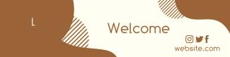 Abstract Shapes LinkedIn banner