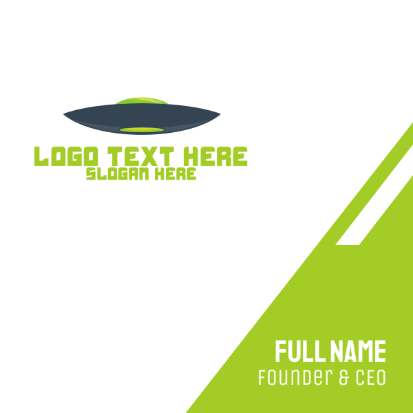 Blue & Green UFO Business Card