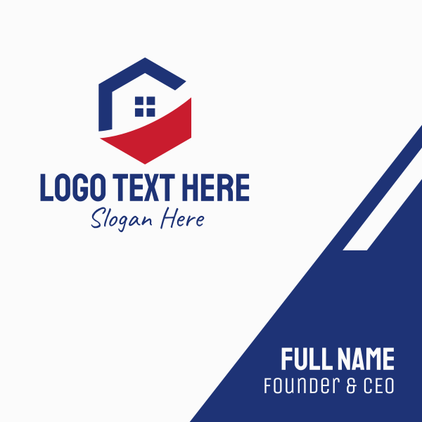Real Estate Hexagon Business Card