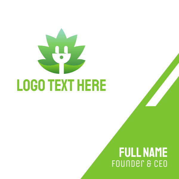 Renewable Eco Electricity Business Card