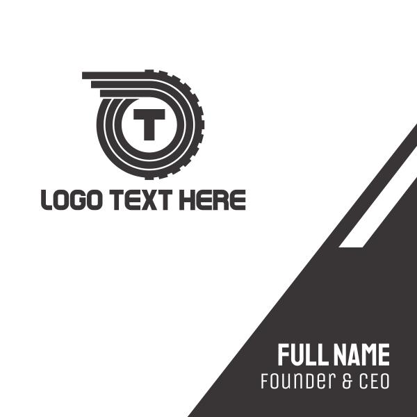 Automotive Letter T Business Card