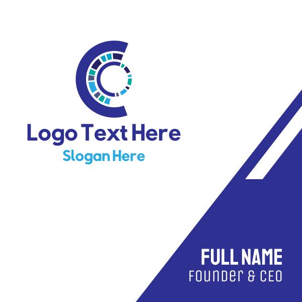 Futuristic Letter C Business Card