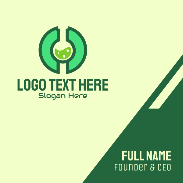 Green Laboratory Letter O Business Card