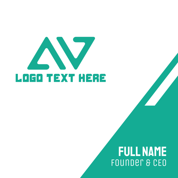 A & V Business Card