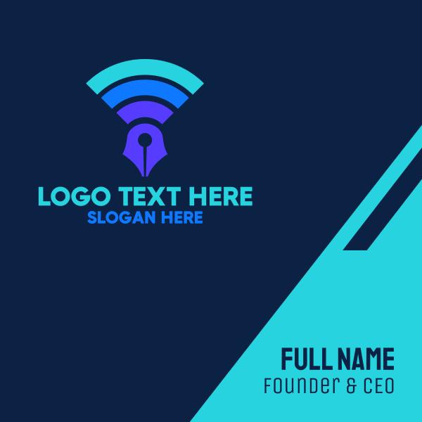 Online Fountain Pen Business Card