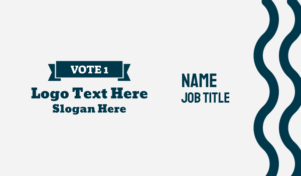 republican - Vote 1 Banner Wordmark Business card horizontal design