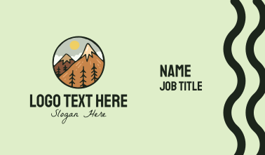 Forest Mountain Peak Business Card