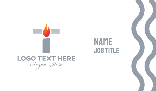 wax - Candle Light Letter T Business card horizontal design