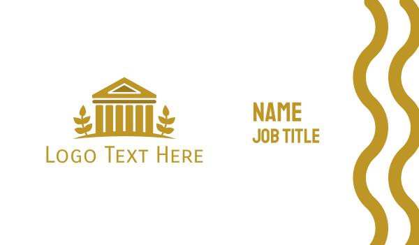 renaissance - Gold Vintage Coliseum  Business card horizontal design