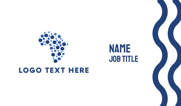 African Dots Business Card