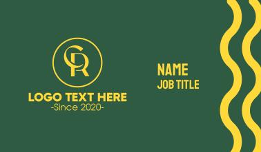 Monogram C & R Emblem Business Card