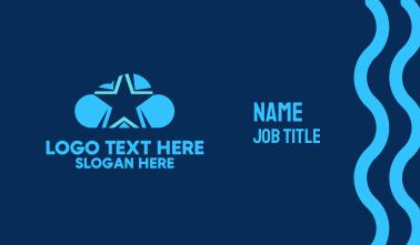 Blue Star Cloud Business Card