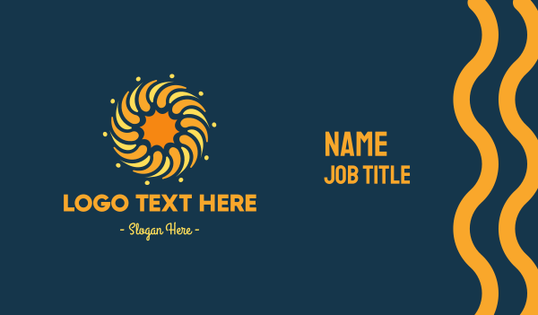 sunlight - Golden Sun Circle Business card horizontal design