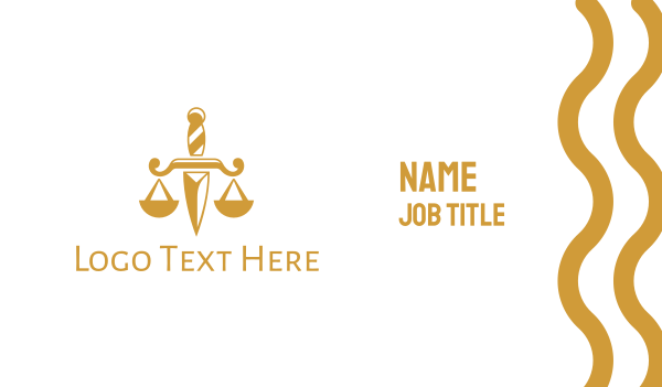 gold - Dagger Law Business card horizontal design