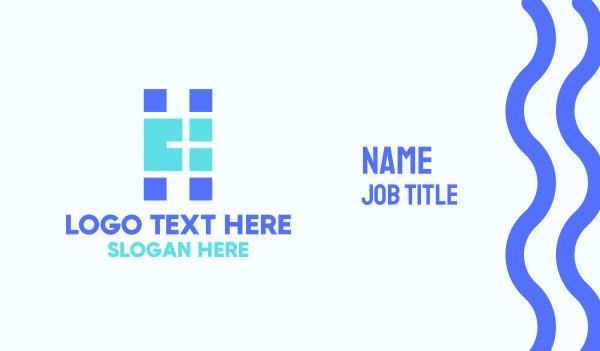 letter h - Pixel Media Letter H Business card horizontal design