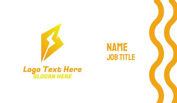 electronic - Yellow Thunder B Business card horizontal design