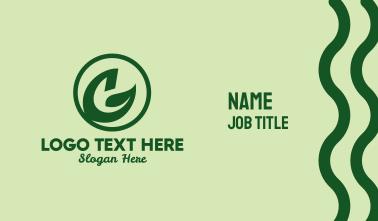 Natural Leaf Emblem Business Card