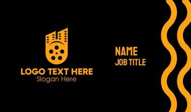 Cinema Film Reel City Business Card