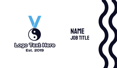 Chinese Yin & Yang Medal Business Card