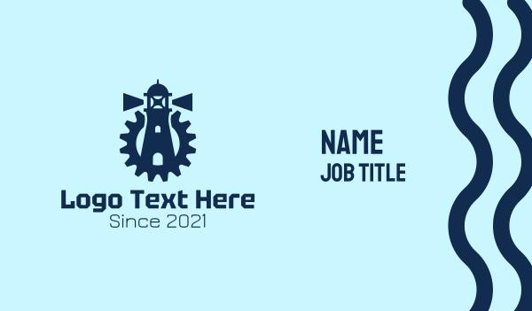 traveling - Blue Lighthouse Gear  Business card horizontal design