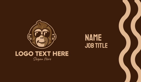 toys - Cool Monkey Mascot  Business card horizontal design