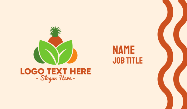 stand - Tropical Fruits Business card horizontal design