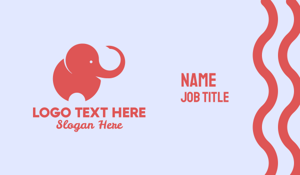 exclusive - Baby Elephant Logo Business card horizontal design