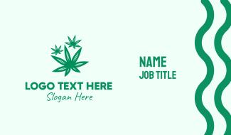Medicinal Marijuana Leaves Business Card