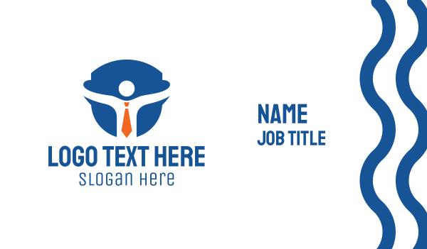outsource - Shield Businessman Business card horizontal design