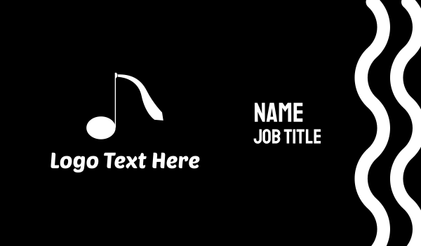 sing - Music Tie Business card horizontal design