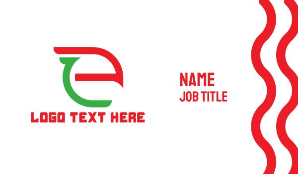 4g - Eagle Tech E Business card horizontal design