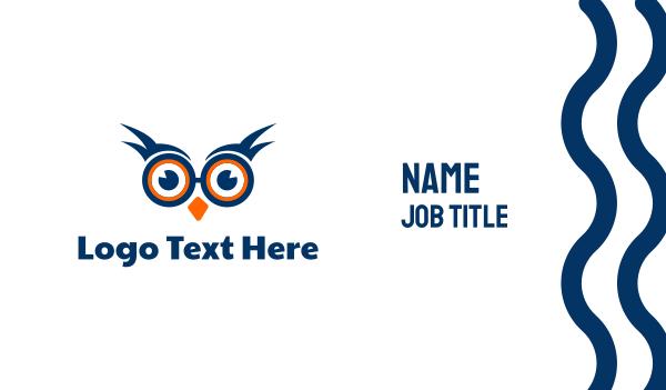 watching - Nerd Owl Business card horizontal design